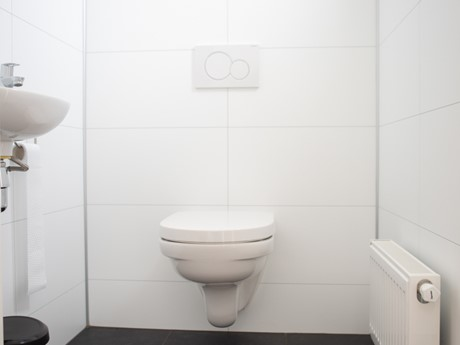 Toilet in waterbungalow Vakantiepark Molenvelden
