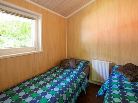 Slaapkamer Lodge Met Twee Eenpersoonsbedden Vakantiepark Latour